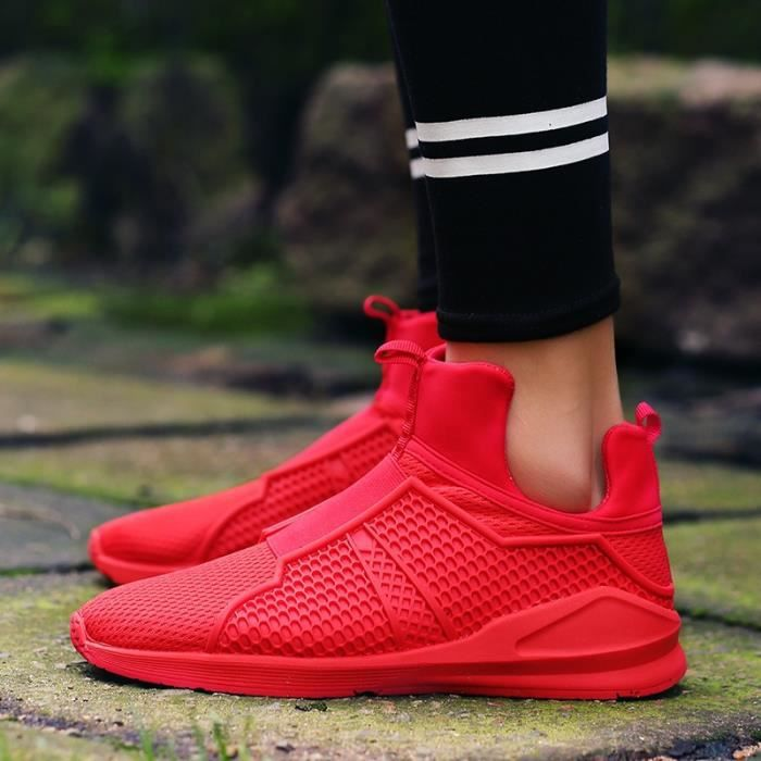 Hommes Sport hommes Slip rouge Respirables Mode Chaussures pour Casual 40 On Chaussures Mesh x15BFq4X