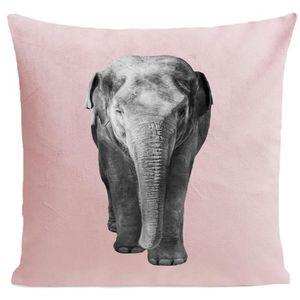 COUSSIN ARTPILO - Coussin ELEPHANT Coton déperlant - Rose