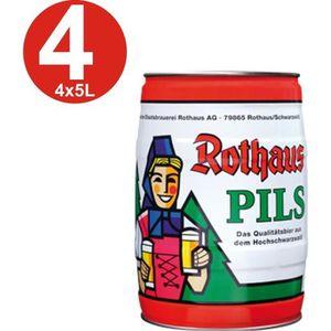 BIÈRE 4x futs de bière Rothaus Pils 5 L baril 5,1% vol