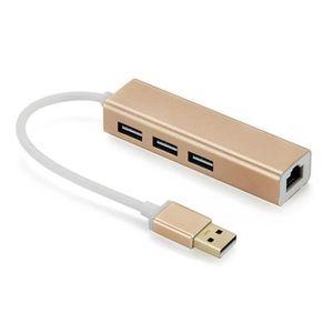 AUTRE PERIPHERIQUE USB  Aluminum Hub USB 2.0 multiples 3 Ports avec un RJ4