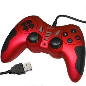 MANETTE JEUX VIDÉO Manette pour PC,USB 12 Boutons, Rouge
