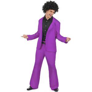 DÉGUISEMENT - PANOPLIE Déguisement disco violet adulte