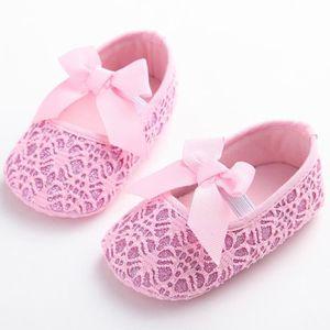 Frankmall®Fille berceau chaussures Modèle creux Noeud papillon semelle douce anti-dérapant bébé espadrilles MARRON#WQQ0926146 YiDfzbcFi5