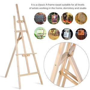 CHEVALET DE PEINTRE Chevalet 1.5M en bois-présentoir de peinture - tré