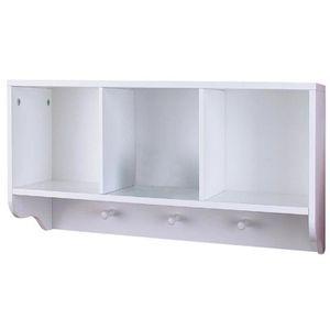 MEUBLE ÉTAGÈRE Etagère de salle de bain en bois blanc, L67 x H30