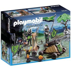 FIGURINE - PERSONNAGE Playmobil Loup Chevaliers Avec Catapulte