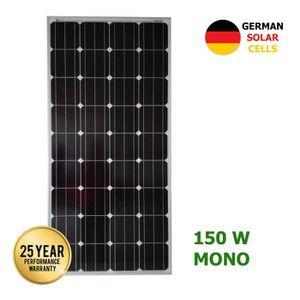 KIT PHOTOVOLTAIQUE Panneau solaire monocristallin 150W cellules allem