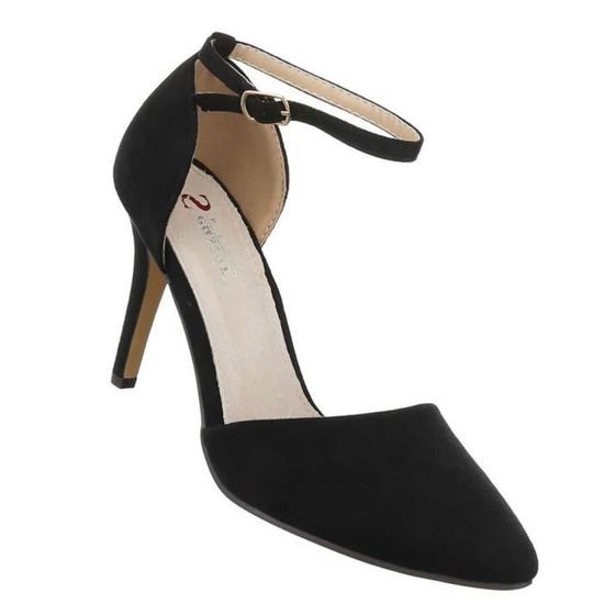 40 Élégant Femme Noir High Heels Escarpin Chaussures 35Sc4RjLqA
