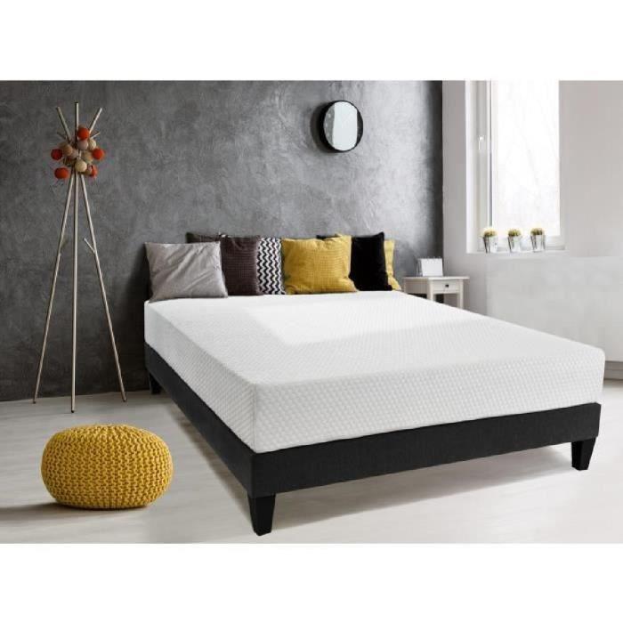OLYMPE LITERIE Matelas 140x190 - Mousse HD 33kg/m3 + mémoire de forme SLEEPTOUCH® 60kg/m3 - Ferme - SENSATION