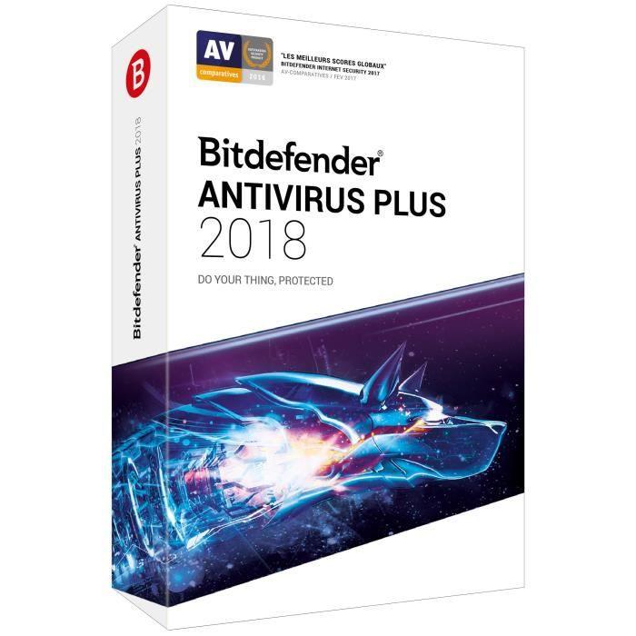 Avec Bitdefender Antivirus Plus 2018, bénéficiez du meilleur niveau de protection, sans aucun impact sur les performances de votre ordinateur.ANTIVIRUS