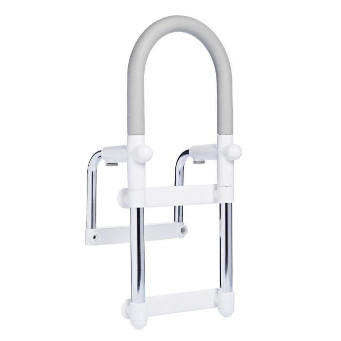 Barre d'accès au baignoire avec structure en Acier poliBARRE DE MAINTIEN - AIDE AU TRANSFERT - CADRE - APPUI