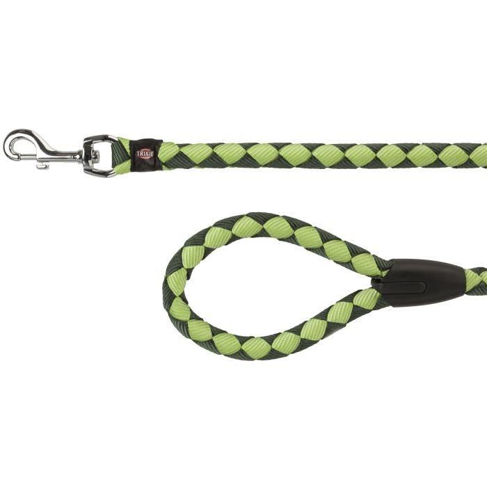 TRIXIE Cavo laisse S–M : 1 m - ø 12 mm - Vert forêt et vert pomme - Pour chien