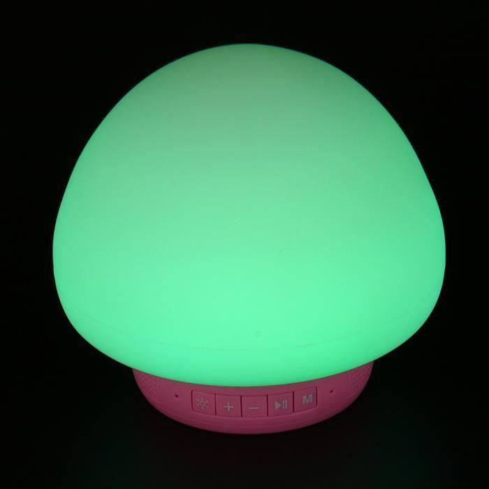 Bluetooth Light180 Lampe Champignon Veilleuse Sans Led Silicone Cadeau Différente 7 Fil Couleur mOwnyvN80