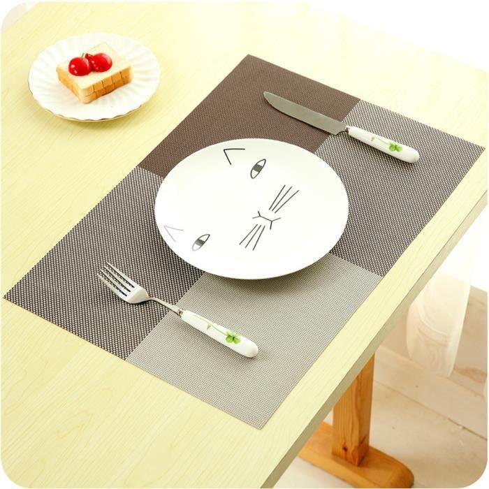 X1 Sets de table - 45x30 cm - Treillis - Cafe