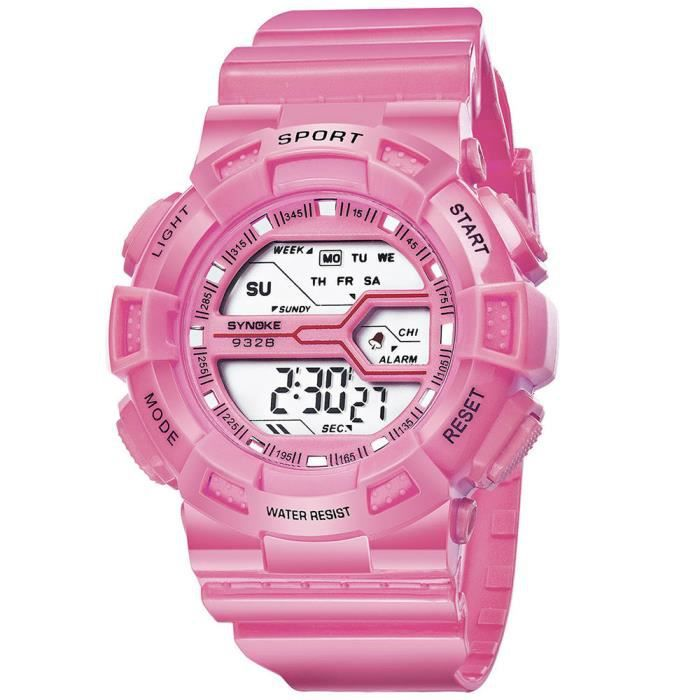 MONTRE Montre-bracelet imperméable à l'eau de montre de D