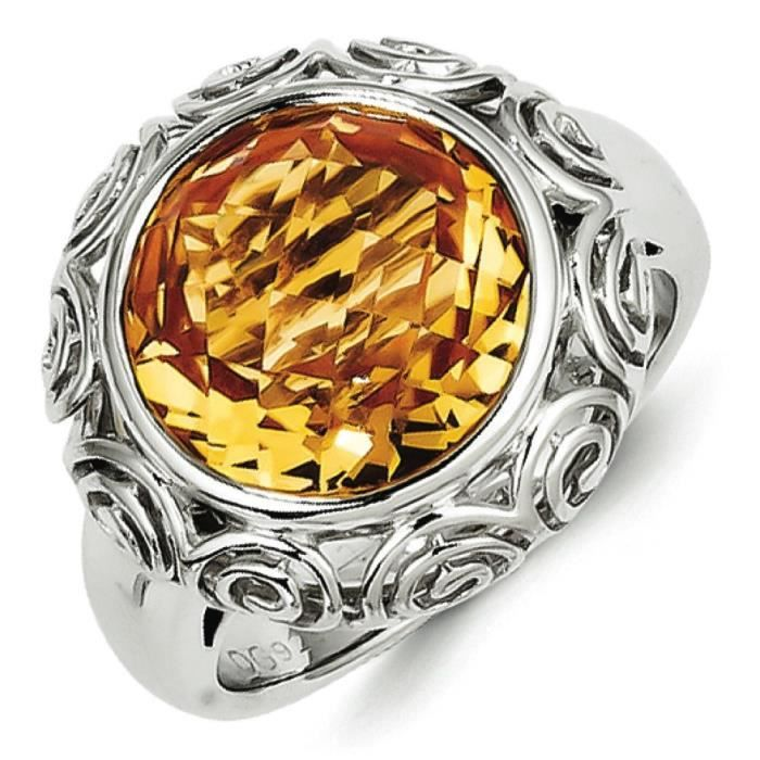 Argent 925/1000–Citrine-Taille 1/2–N