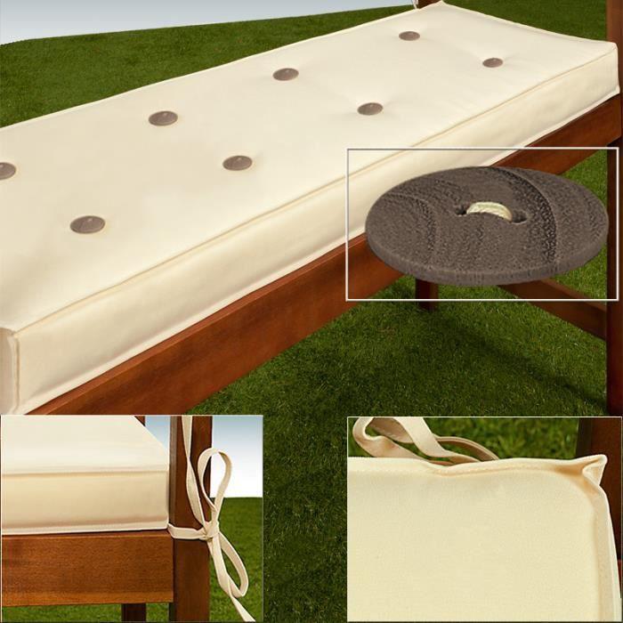 coussin pour banc de jardin beige 145x45cm pais achat vente coussin d 39 ext rieur coussin. Black Bedroom Furniture Sets. Home Design Ideas