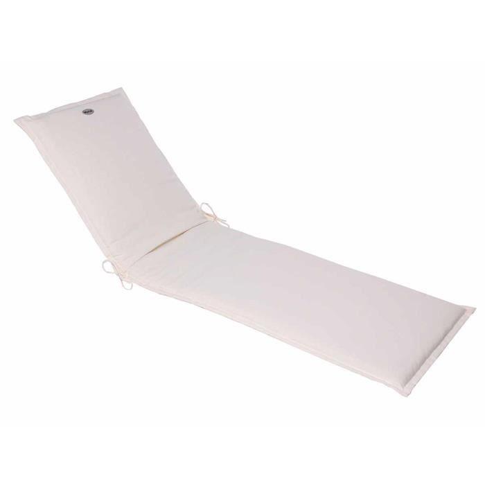 Coussin pour transat Blanc 190 x 60 cm - Hespéride - Achat / Vente ...