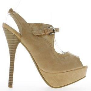 Sandales femme beiges à talons d…
