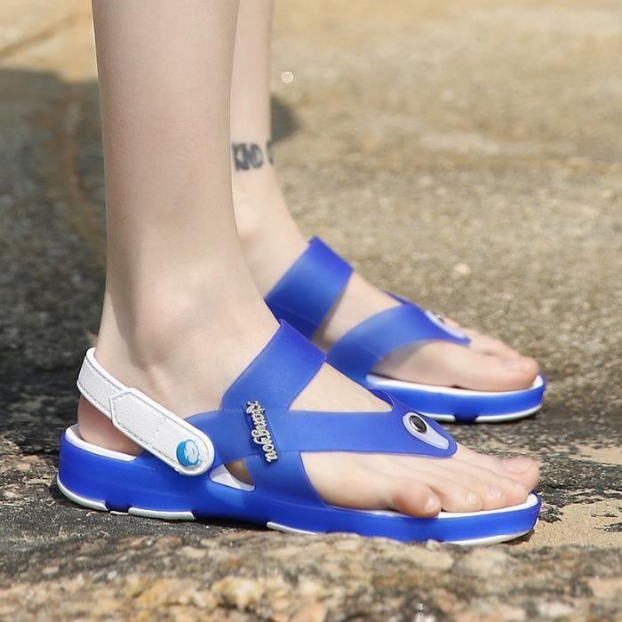 Chaussures style britannique plat Sandales de plage pour hommes