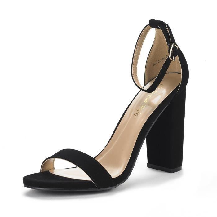 Sandales de pompe haute talon Salut-gros morceau de la femme FMHK8 Taille-39