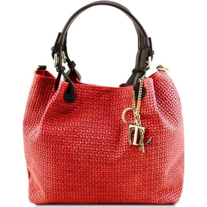 Tuscany Leather - Sacs à bandoulière en cuir - TL Key Luck - Rouge Lipstick (TL141573)