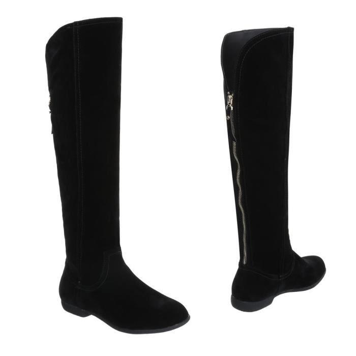 Chaussures femme Overknee bottes Moderne Marron clair 41