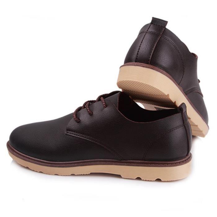 Mocassins en cuir véritable Chaussures Hommes Chaussures Flats Hombre Noir Hommes de Oxfords,noir,44,2900_2900