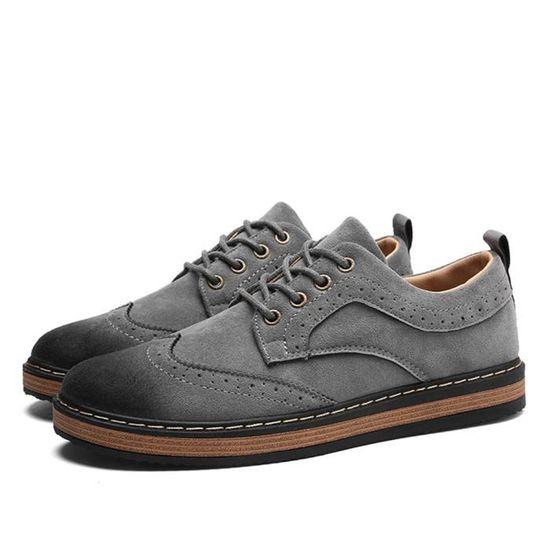 Moccasins Homme Nouveauté Mode Poids Léger Moccasin Respirant Antidérapant Chaussure Classique Doux gris noir Durable 39-44 zhH6s