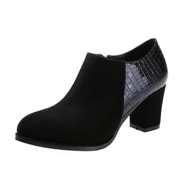 les bottes de cuir épais de mode avec martin, d...