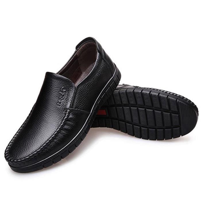 Ete Hommes Respirant Souple De Male Decontractees Chaussure Veritable Chaussures 2018 Cuir Flaneurs Plat Printemps Mocassin 4qqnCXAa