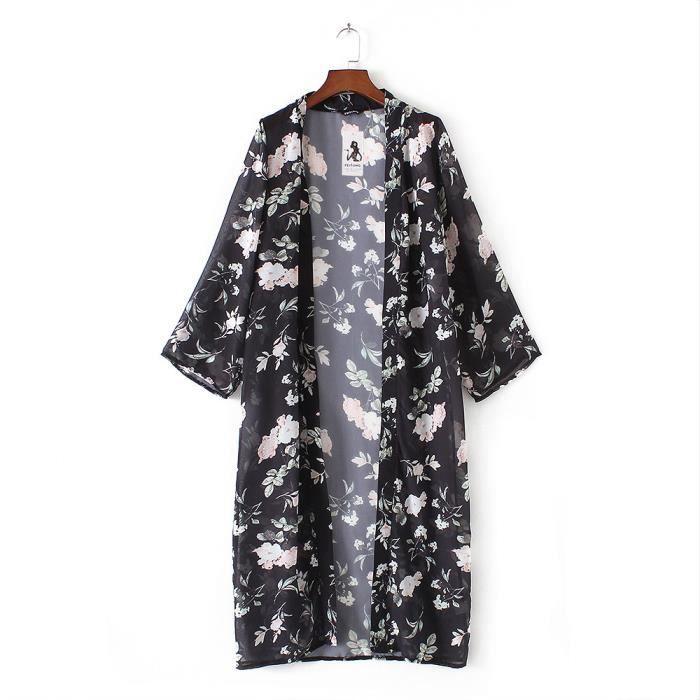 Recouvrir D'été noir Feitong Femmes Kimono Vrac Top Châle Cardigan En Plage Dentelle vqd1n4Fd