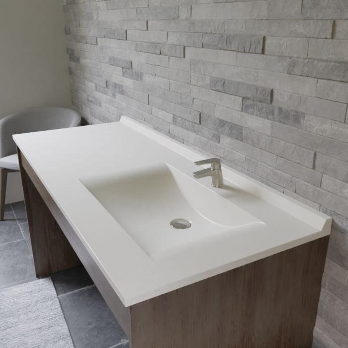 CREAZUR Plan simple vasque droite 141cm