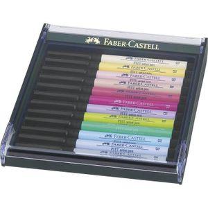 FEUTRES FABER-CASTELL Boîte de 12 feutres pastel