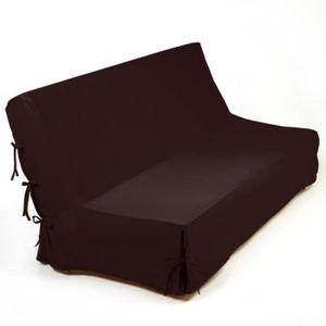 housse clic clac marron achat vente housse clic clac. Black Bedroom Furniture Sets. Home Design Ideas