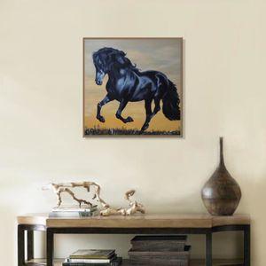 TABLEAU - TOILE Cheval courant 60 * 60cm de cadeau d'art de mur de