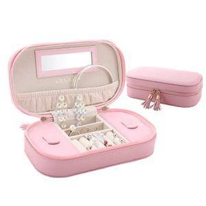 BOITE A BIJOUX Femmes Petite Boîte à bijoux Voyage Boîte à bijoux