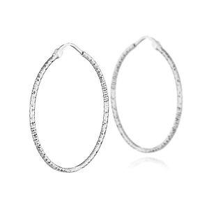 Boucle d'oreille Boucles d'oreilles créoles taille diamanté en arge