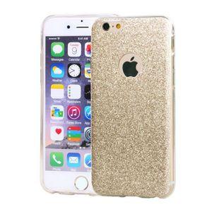 COQUE - BUMPER Coque silicone souple Paillettes Or pour iPhone 6/