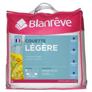 COUETTE BLANREVE Couette légère Polycoton 140x200 cm blanc