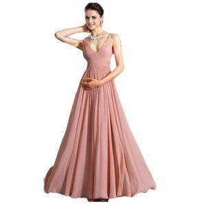 543535cd78a ROBE DE CÉRÉMONIE rose robe longue