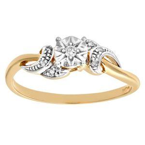 BAGUE - ANNEAU Revoni Bague Diamant Or Jaune 375° Femme  Poids du