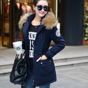 Manteau capuche fourrure femme pas cher
