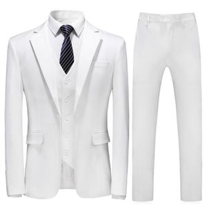 COSTUME - TAILLEUR Costume homme mariage 3 Pièces blanc smoking homme ... bf20519c2e3