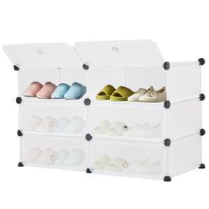 ARMOIRE DE CHAMBRE armoire de chaussure 6 casier transparent rangemen