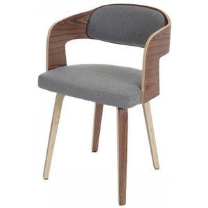 CHAISE DE BUREAU Chaise De Bureau En Bois Et Textile Coloris Gris