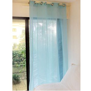 VOILAGE RIDEAU VOILE A OEILLETS 140x250 TURIN TURQUOISE
