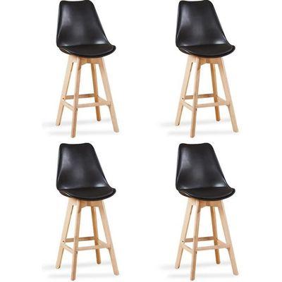 Lot de 4 chaises hautes noires - Gotteborg - Achat   Vente tabouret ... 54707547013e
