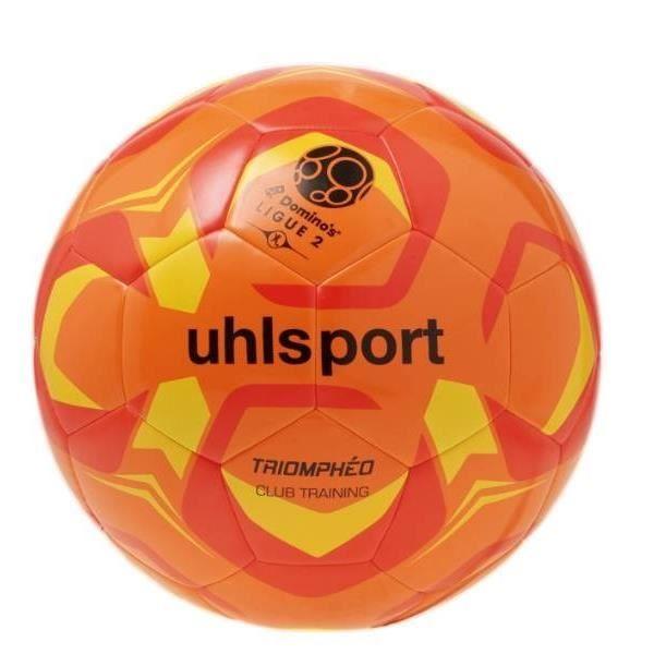 UHLSPORT Ballon de football Triomphéo Club Traning - Orange et rouge - Taille 4