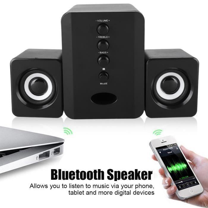 ENCEINTES ORDINATEUR Haut-parleur Bluetooth SADA alimenté par USB 5V 2.